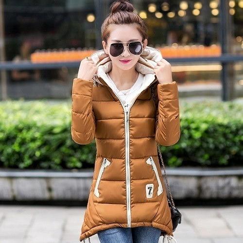 女性の綿が詰めジャケット2016の新しい冬のミディアム・ロングダウンコットンパーカープラスサイズのコート女性スリムレディースジャケットとコート