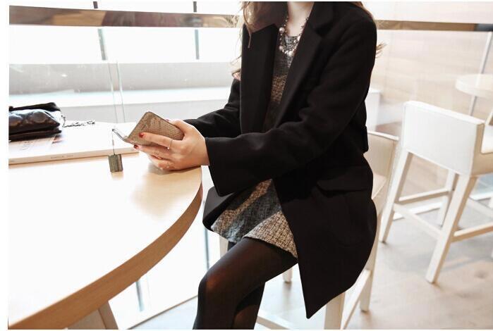 【10月スタートSALE★すぐ着たい方、即納ですよー!❤】韓国女性/厚いウールコート/女性長いセクション/ウールコートのスリムなビッグコード★送料無料★