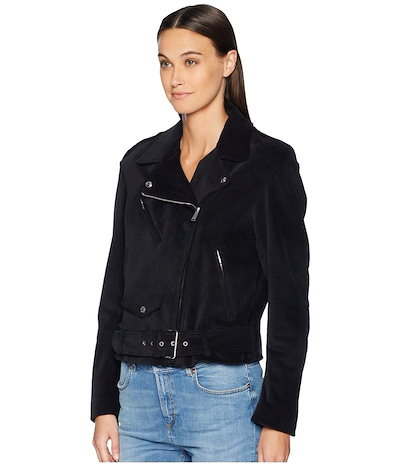 ベルスタッフ レディース コート アウター Langtry Cotton Velvet Moto Jacket