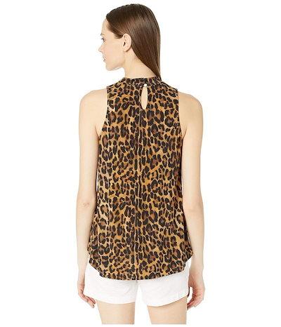 ニコルミラー レディース シャツ トップス Furry Leopard Jersey Turtleneck Top