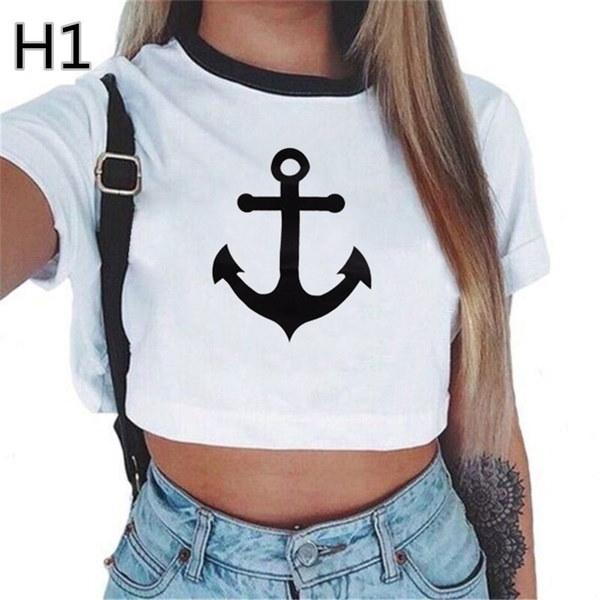 レディース夏ショートスリーブTシャツトップスレタープリントTシャツトップス