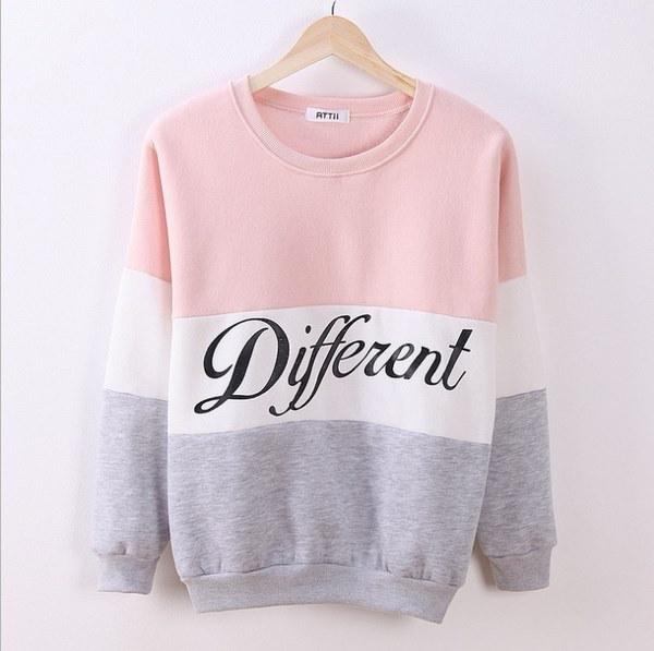 Autumn and winter women fleeve hoodies printed letters Different women s casual sweatshirt hoody sud