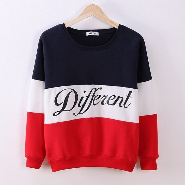 Autumn and winter women fleeve hoodies printed letters Different women s casual sweatshirt hoody sud