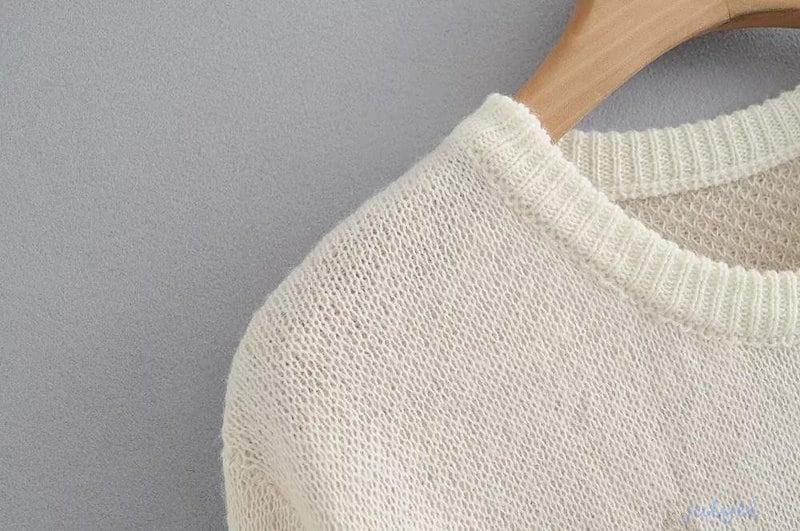欧米風 ジャガードセーター/ルーズニット/長袖 レディース 着やせ ニット/大きいサイズ/ゆったり トップス/ゆるニット