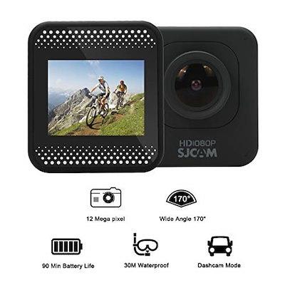 SJCAM M10 アクションカメラ スポーツカメラ ウェアラブルカメラ 170°広角レンズ オリジナル正規品 黒