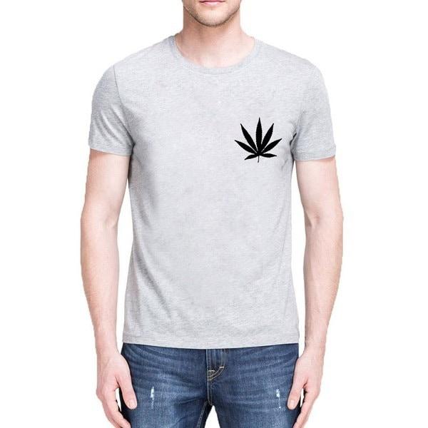 雑草植物Tシャツマリファナ大麻リーフグラフィックTシャツファッション女性Tシャツカジュアルコットン面白い市