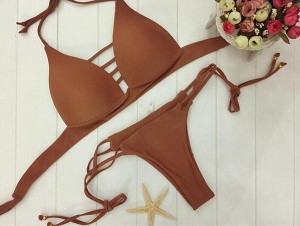 夏の女性のファッションセクシーなビキニ水着包帯カジュアルファッション水着