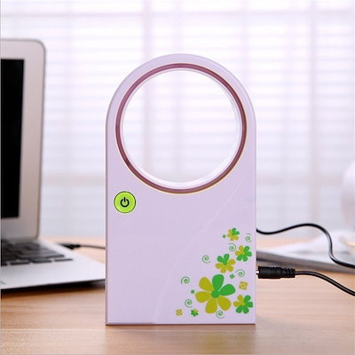 Portable Handheld Mini Air Conditioner Bladeless Fan Desktop W/O No Leaf Air Cooling Fan ultra quiet
