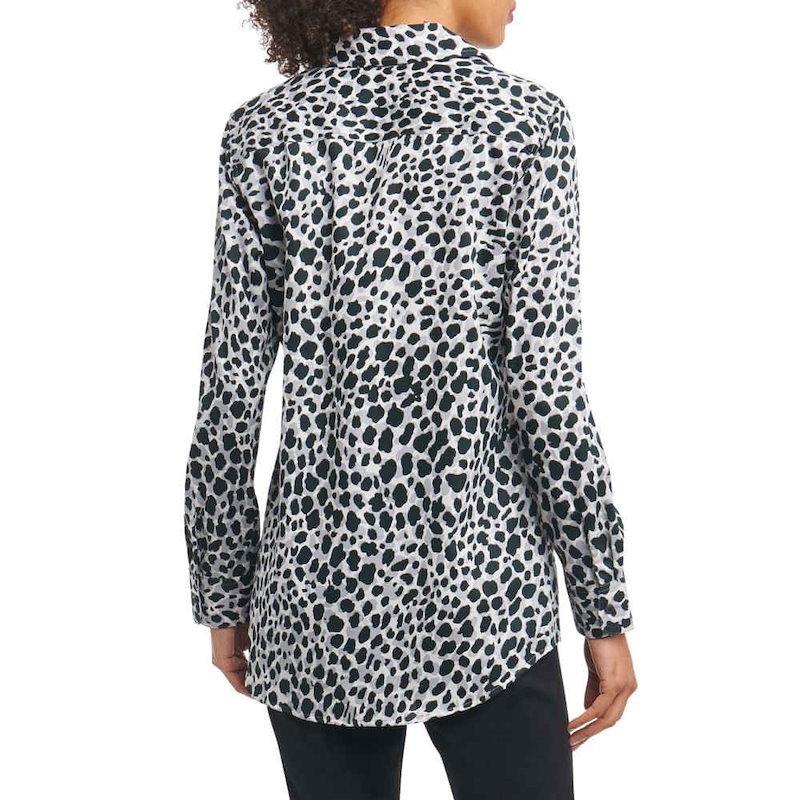 フォックスクロフト レディース トップス ブラウス・シャツ【Fay Animal Print Shirt】Silver Animal