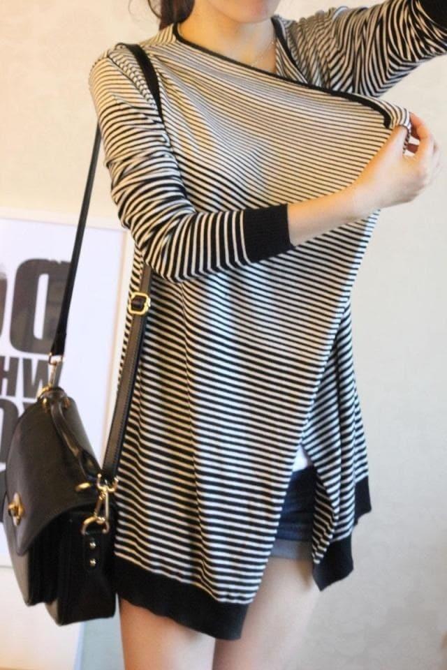 新しいセーターニットカーディガンジャケットと長いセクションの女性の春