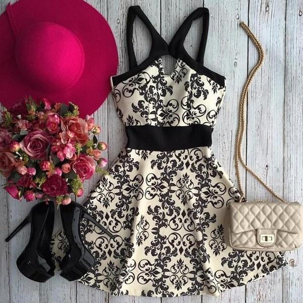 女性のファッションプリントシフォンドレスファッションサスペンダースカートスタイル