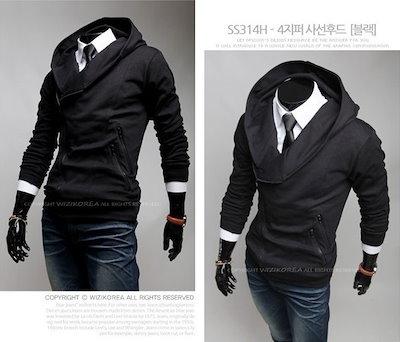 New Super Fashion Men s Casual Hoodies Sweatshirts、 Men Slim Hooded Sweatshirts Jackets HJ0035