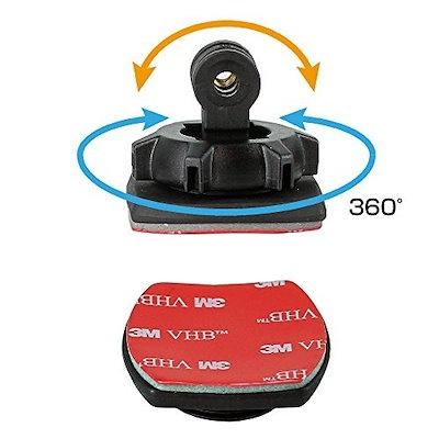 REC-MOUNTS ヘルメットマウントS Helmet mount S for ION(アイオン) AirPro ウェアラブルカメラ用 自分撮り 目線撮り 芸能人撮りに [ION-51T200CN]