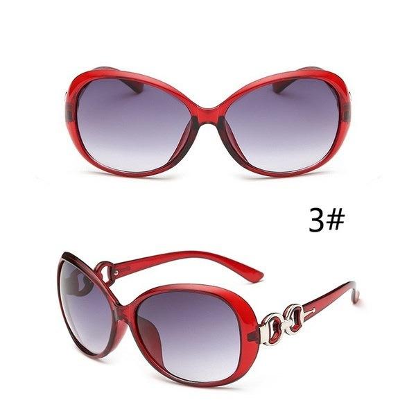 ファッション女性ラウンドタイプサングラスヴィンテージチャーム眼鏡フレームガールズUVプロテクションサングラスエル