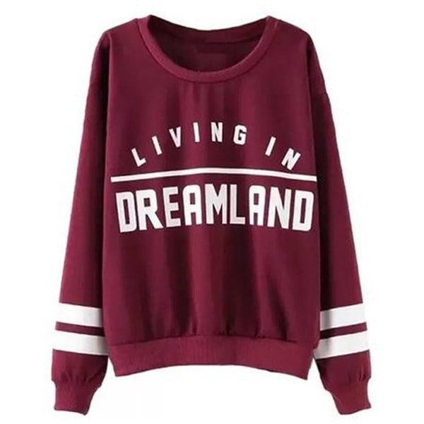 レディースカジュアルパーカーレタープリントDreamlandでの生活New Fashion Design Sport Sweatershirt