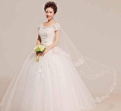 パール 花嫁 礼服 ウェディングドレス 花飾り オフショルダー 肩出し レース 刺繍 XCYZJ04