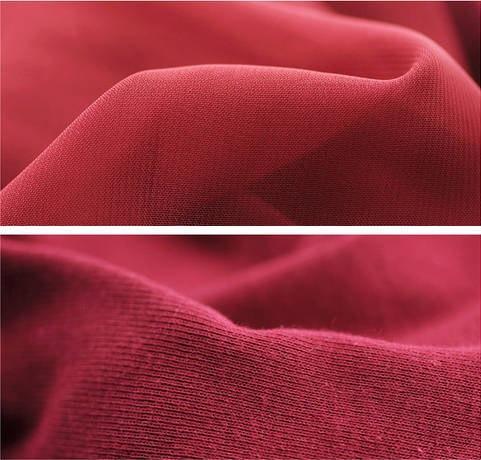 シフォンブラウス カットソー 長袖 襟元タック バックは伸縮性抜群のコットン素材Tシャツ 全3色 夏秋 新作オフィス 仕事 OL レッド ホワイト ブラック 赤 白 黒「在庫限定」