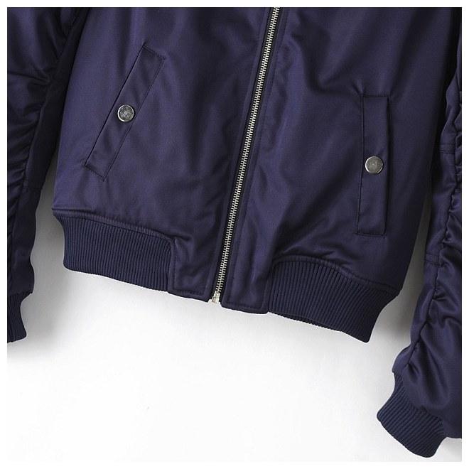 【即納】フライトジャケット ジャンパー ブルゾン ジップアップ 長袖 シンプル 無地 カジュアルスタイル レディー◎本日注文1月29日頃出荷予定