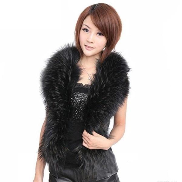 ブランドファッション女性フェイクファーパッチワーク合成レザージャケットベストコートカーディガン