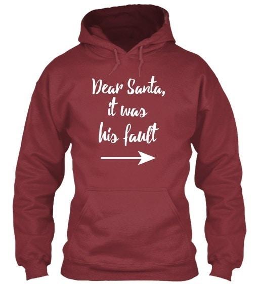 親愛なるサンタさん、彼の不具合でした。クリスマスは、彼女のギルダンパーカーのスウェットシャツ
