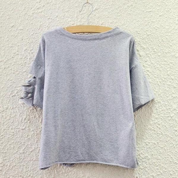 マジックモールニュー原宿ファッションレディースバットウィングショートスリーブTシャツブラウストップスTシャツ