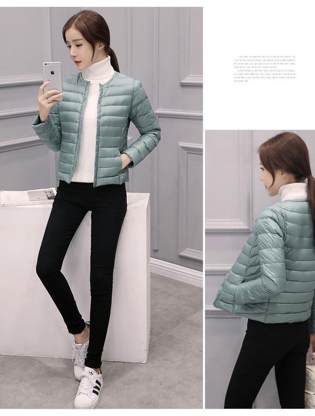 レディース服 女性 大人 冬 ダウンコート ダウンジャケット 丸襟 ショート丈 薄手 ボタン インナー 大きいサイズ 防寒 韓国ファッション