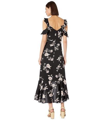 セセ レディース ワンピース トップス V-Neck Etched Floral Ruffled Dress