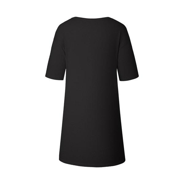 レディースファッションショートスリーブブラックコットンカジュアルTシャツドレス