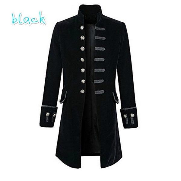 メンズベルベットゴスSteampunk Victorian Frock Coat