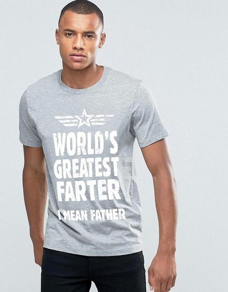 世界最高のファッター私は父の印刷Tシャツメンズカジュアル半袖OネックTシャツSumme