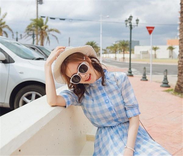 レディースワンピース チェック柄 ファッション ハイセンス 着心地いい 大人気 おしゃれ 夏 スリム セール★ レディースワンピース
