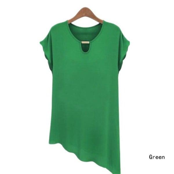 夏スタイルの女性のブラウスプラスサイズのシフォンカジュアルな女性のシャツ蝶の袖フェミニーズブラウス