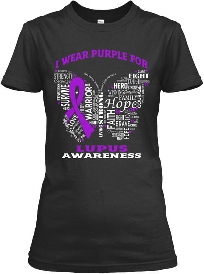 I Wear Purple For Lupus Awareness Gildan Women s Relaxed Tee