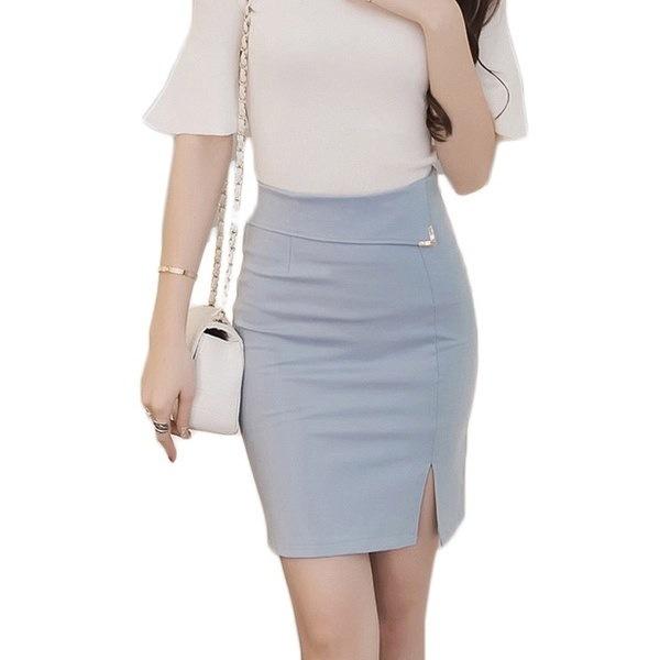 米国サイズ秋スリムオフィススカートFaldas女性セクシーな弾性ハイウエストペンシルスカート