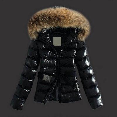 Women Winter Black Coats Cotton Padded Jacket Hooded Fur Collar Down Jackets Size S-XXXL