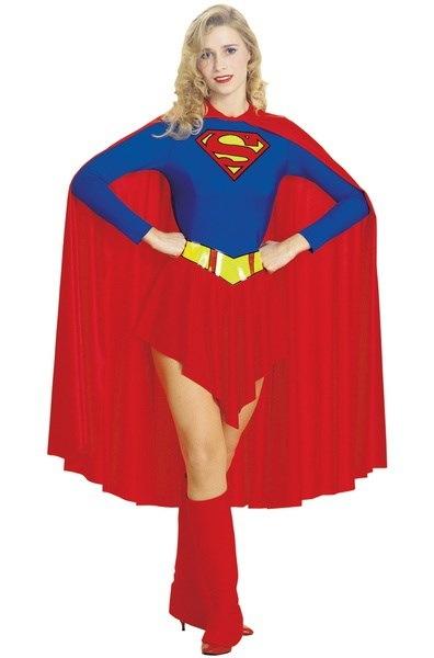 スーパーマンスーパーガールアダルトコスチューム