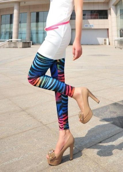 Women Comic Leggings Cartoon Printed Leggins Skinny Girls Legging Punk Rock Leggin Disco Pants Eveni