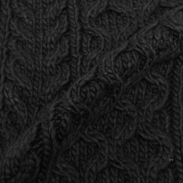 マイケルコース マフラー MICHAEL KORS 537131 BLACK CLASSIC CABLE MUFFLER 約W25cm×183cm アクリル BLACK 黒