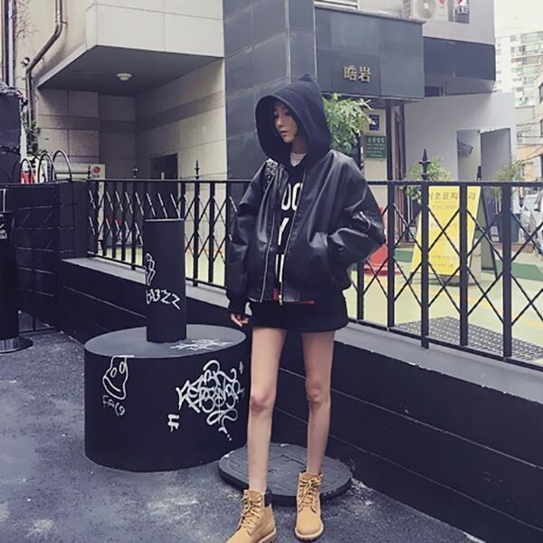 ライダースジャケット BF風トレンチコート革ジャン バイクジャケット  スプリングコート ベーシック   韓国ファッショ  秋冬