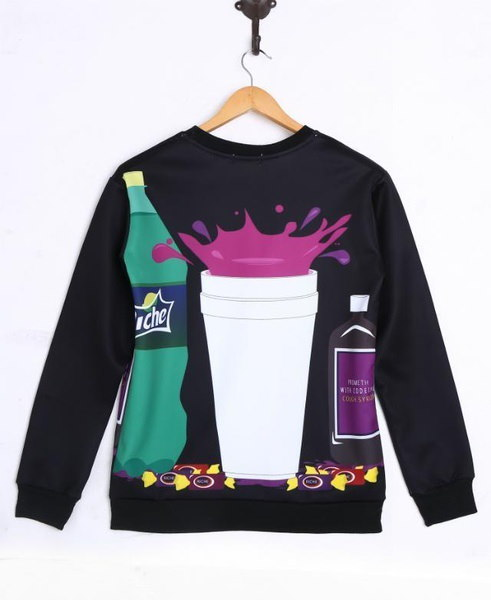 CheersプリントスウェットシャツロングスリーブCrewneckファッションユニセックスS / M / L / XL