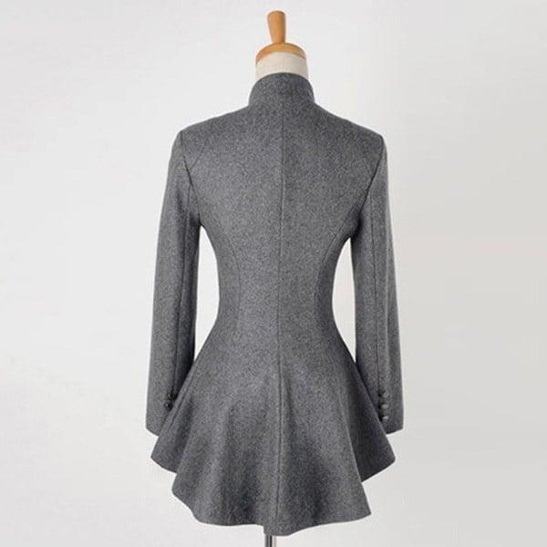 女性ファッション秋服新着長袖ウールコートコートテールコート