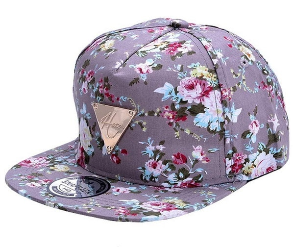新しいファッションフラワーフラワースナップバックヒップホップフラットピーク調節可能な野球帽のトップTSY