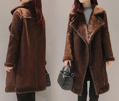 ムスタン ジャケット コート ベルトデザイン もこもこ レディース アウター 定番 ゆったり 冬