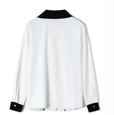 シフォン ロングシャツ 白シャツ ホワイト 長袖シャツ 無地 シャツワンピース 白 レディース 大きいサイズシャツ チュニック丈 シャツワンピース ギンガムチェック
