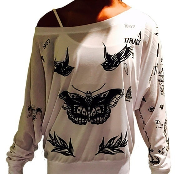 2017 Women s Fashion Harry Styles Tattoo UPDATED 1D One Direction Boy Band SweatShirt