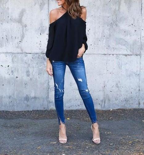 ファッション女性ホルターオフショルダーロングスリーブセクシーなトップブラウスTシャツサマーシャツトップス