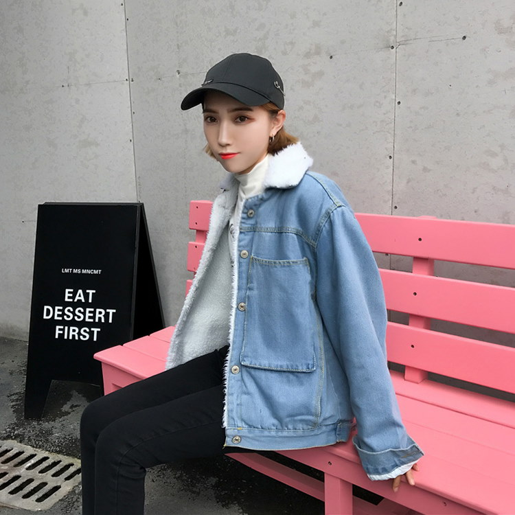 デニムコート レディース 冬物 裏起毛 厚手 デニムコート ジャケット 韓国ファッション 原宿系 BF風 大きいポケット 暖かいジャケット デニムジャケット ショートコート かわいい おしゃれ