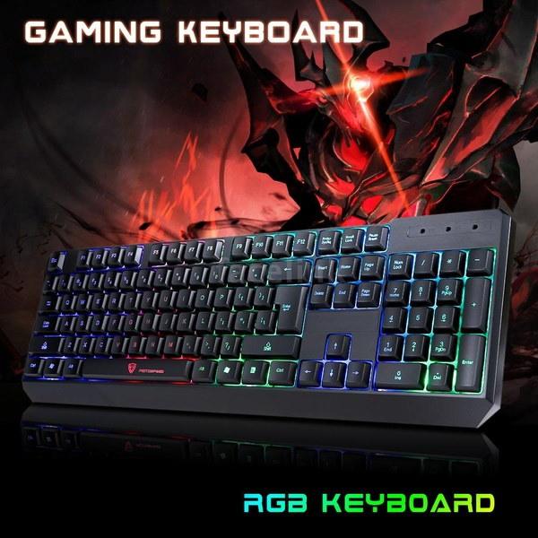 新しいプロフェッショナル104キーゲームエスポートキーボードUSB有線LEDカラフルなバックライトのバックライトを照らす