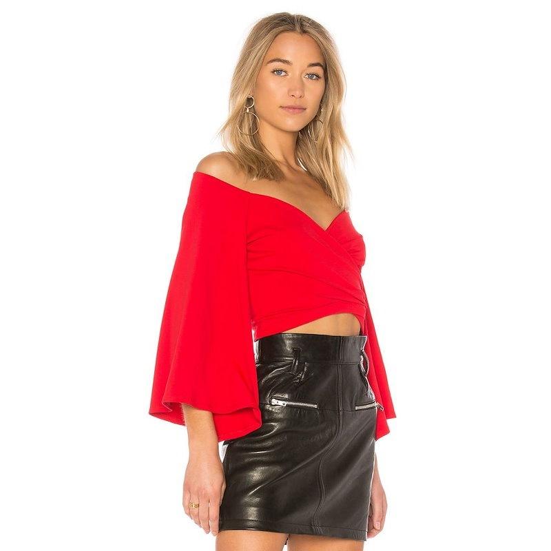 スサナ モナコ レディース トップス オフショルダー【Kinleyn Top Susana Monaco】Perfect Red