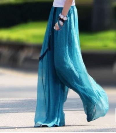 韓国ファッション 春 韓国 ピンク ゆったり ガウチョパンツ 海 夏 ロングワイドパンツ リゾート ブラック ライトピンク ブルー